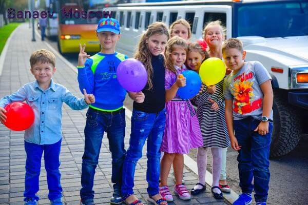 Children's party in a limousine 6-17 years